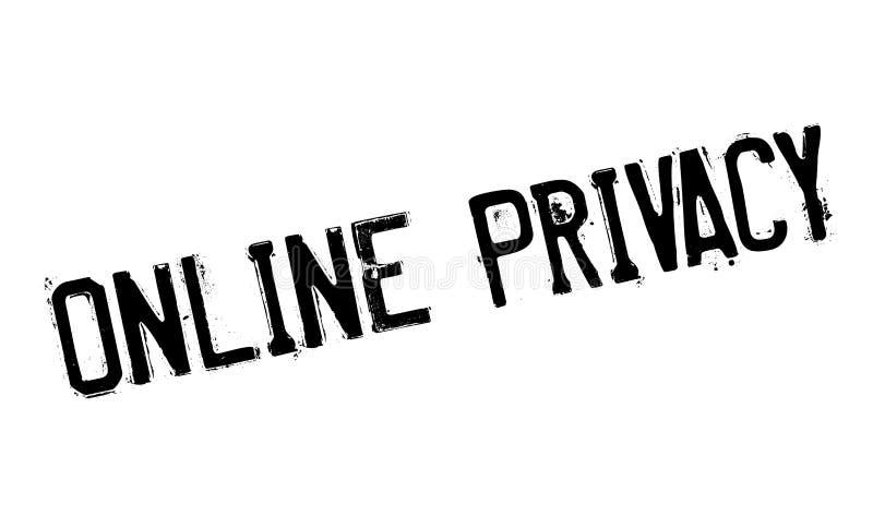 Online prywatności pieczątka royalty ilustracja