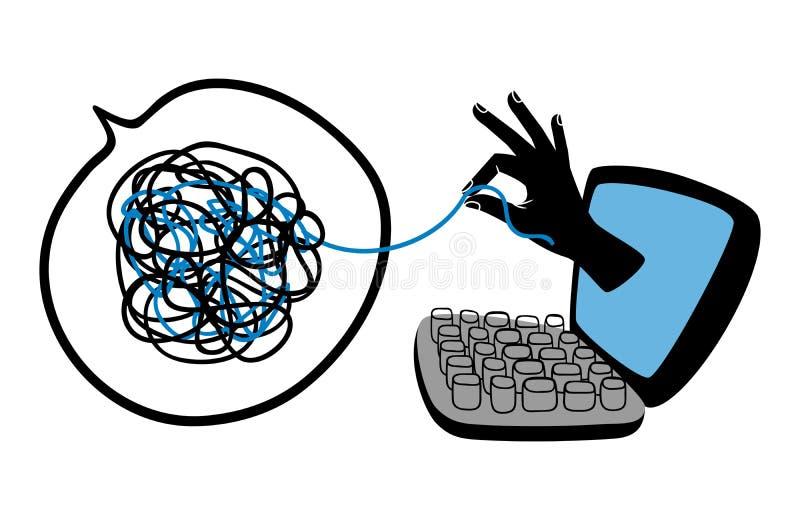 Online psychological help. Vector illustration. Psychotherapy concept stock illustration
