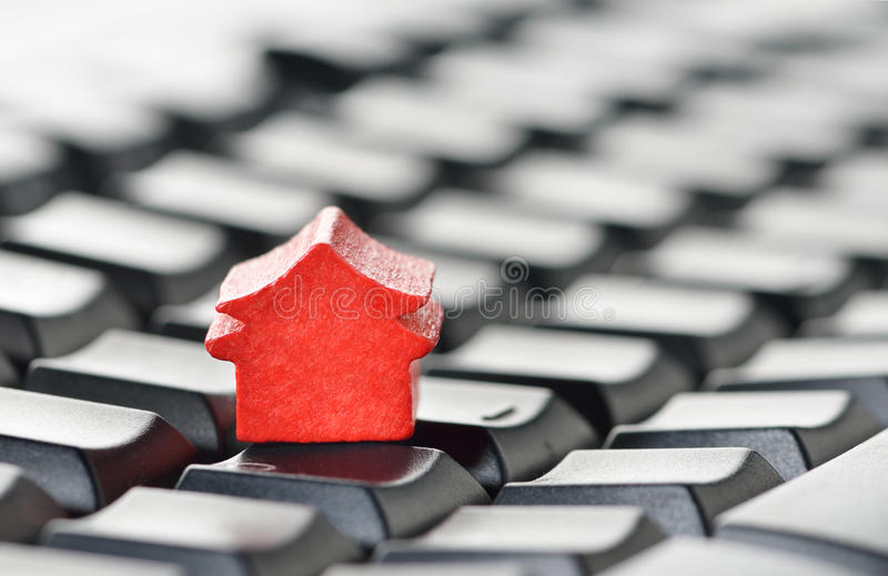 Download Online real estate concept stock illustration. Image of icons - 26554675