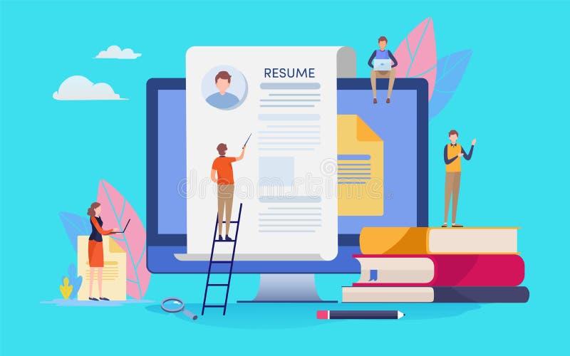recruitment flat vector illustration stock vector
