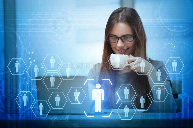 Online recruitment and job search concept stock images