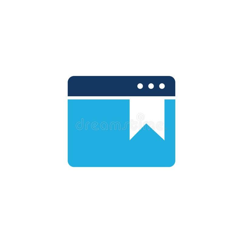 Online Referentie Logo Icon Design royalty-vrije illustratie