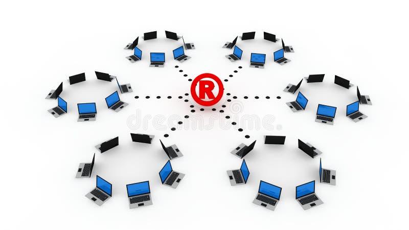online rejestrowy symbol ilustracja wektor