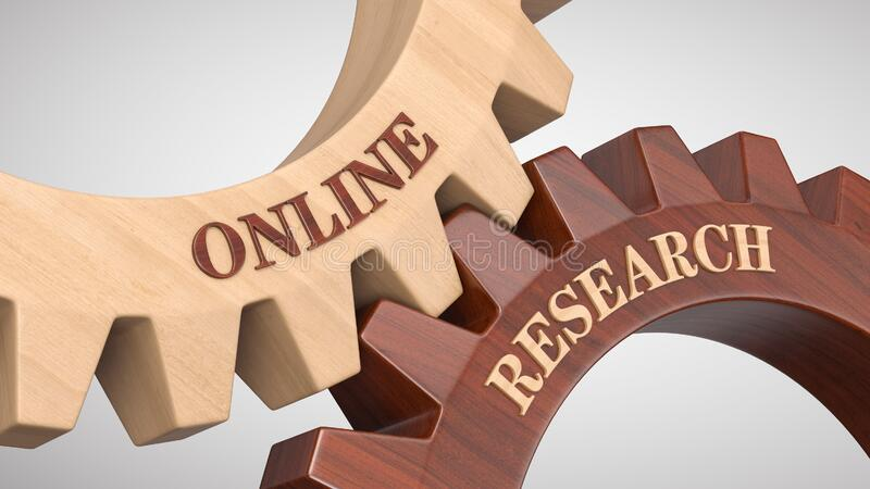 Online research concept stock image