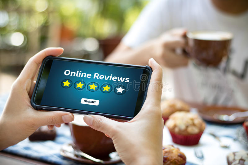 Online Reviews Evaluation time for review Inspection Assessment royalty free illustration