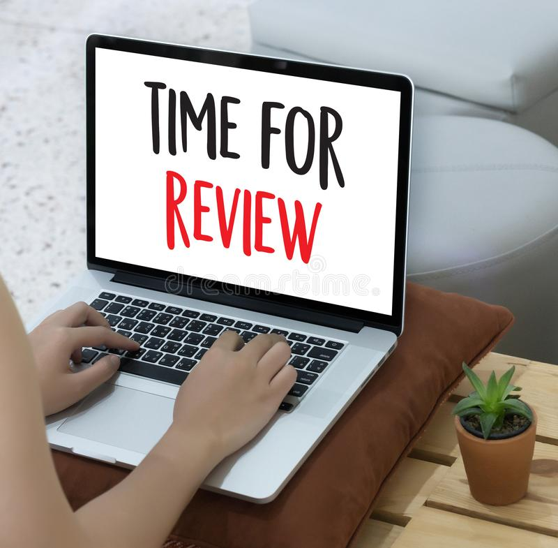 Online Reviews Evaluation time for review Inspection Assessment. Auditing stock images