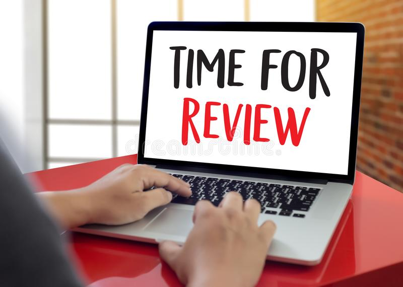 Online Reviews Evaluation time for review Inspection Assessment. Auditing royalty free stock photography
