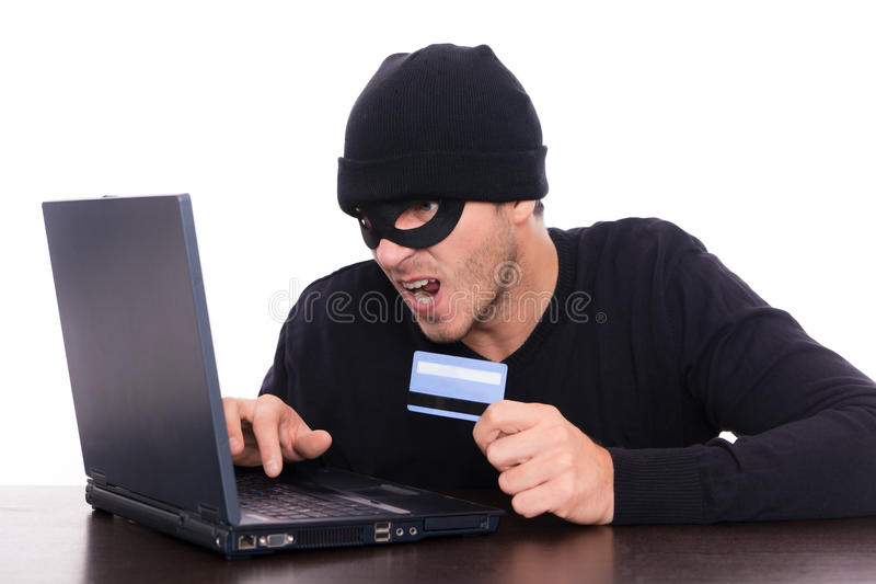 Online robber royalty free stock image