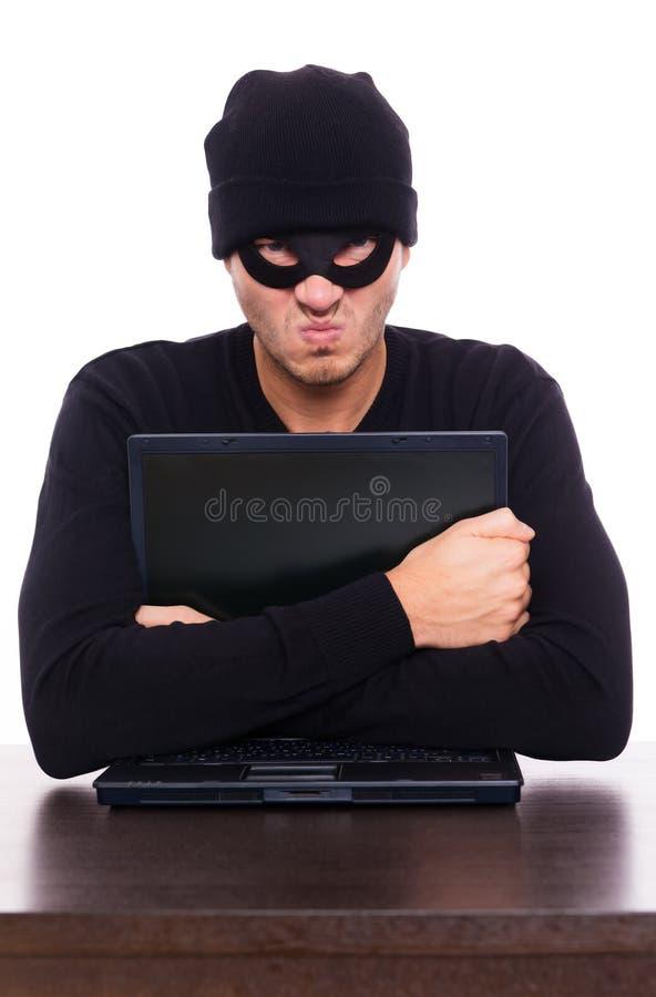 Download Online robber stock image. Image of hacking, laptop, card - 17595725