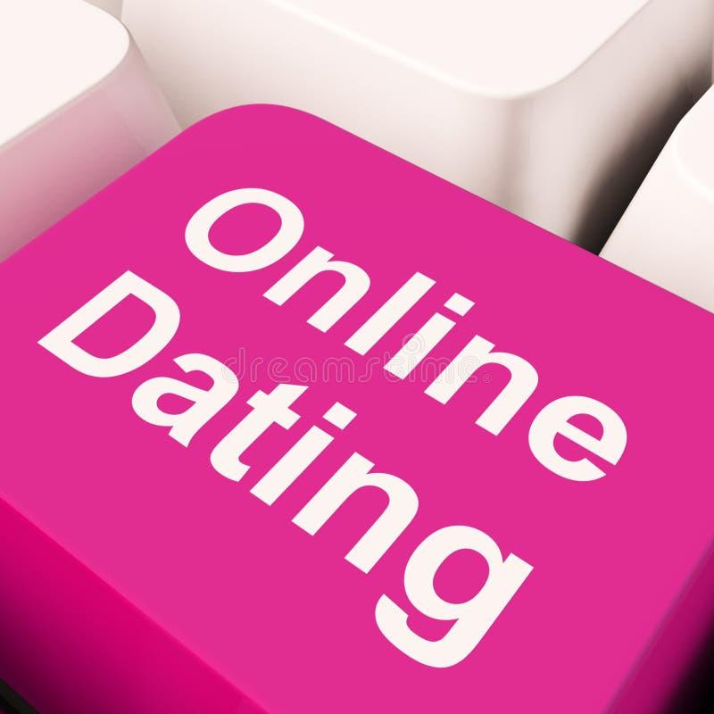 Online-romans för visning för datummärkningdatortangent och rengöringsdukförälskelse fotografering för bildbyråer