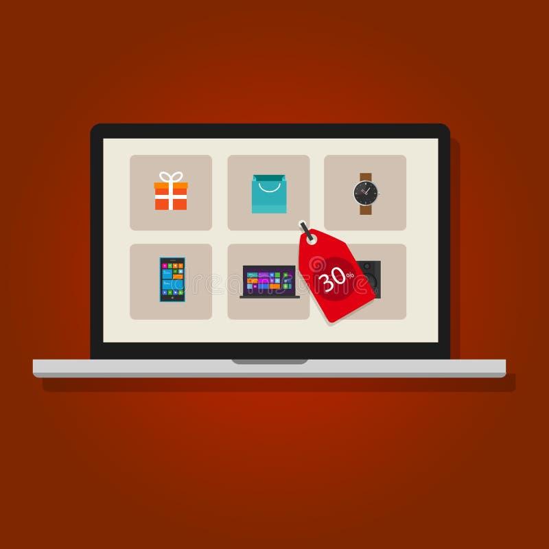 Online sale discount internet product vector illustration