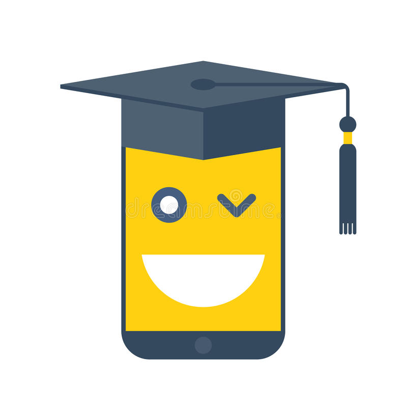 Online school en e-lerend concepten vector vlakke illustratie vector illustratie