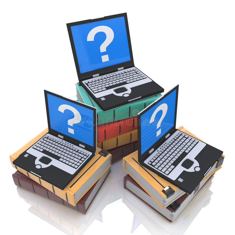 Online search for knowledge stock photo
