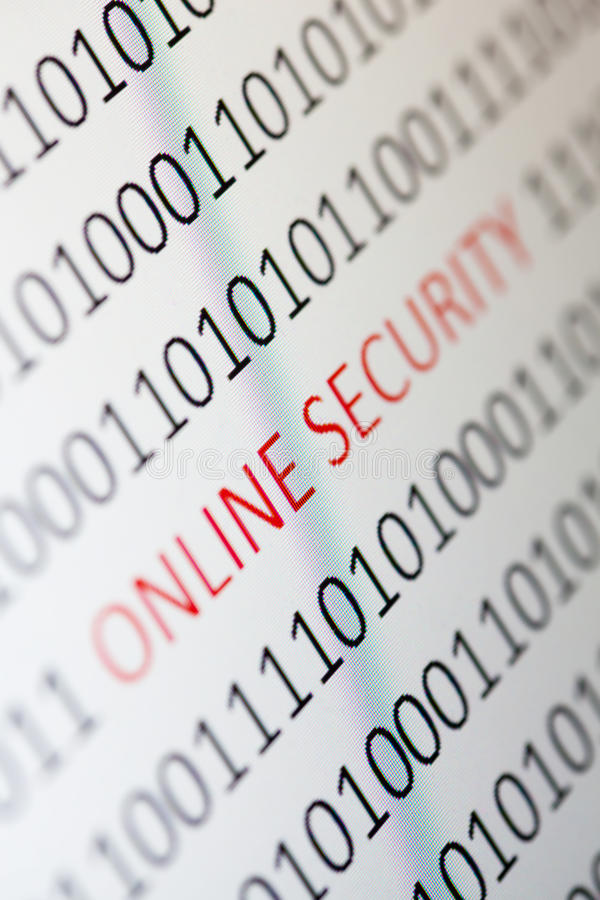 Online security. Close up of Online Security on a monitor - shallow dof royalty free stock photos