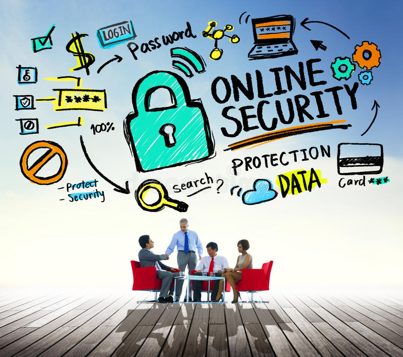 Online Security Password Information Protection Privacy Internet. Concept royalty free stock photos