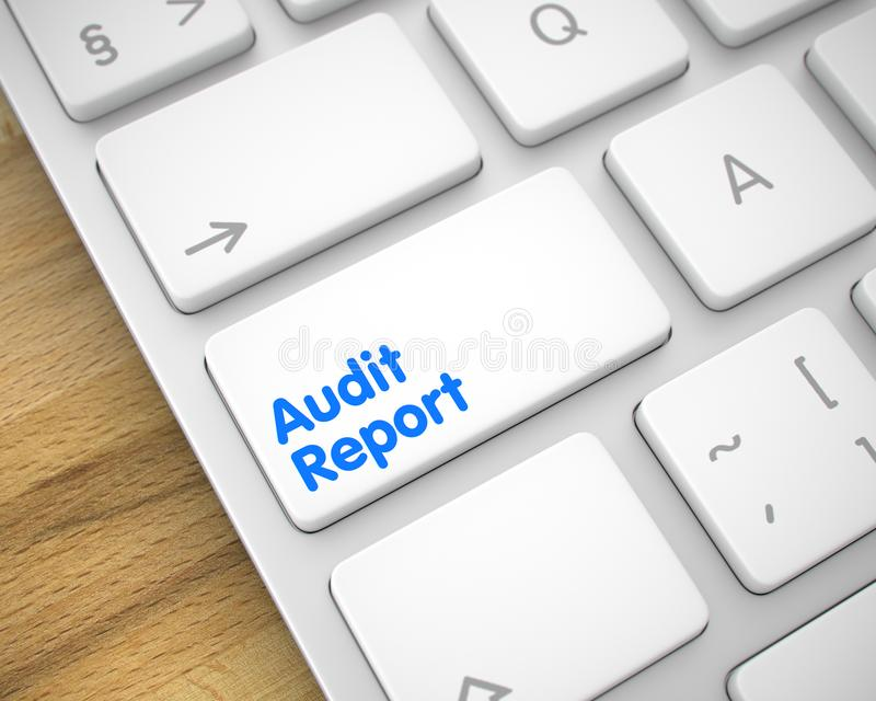 Audit Report - Text on White Keyboard Keypad. 3D. vector illustration