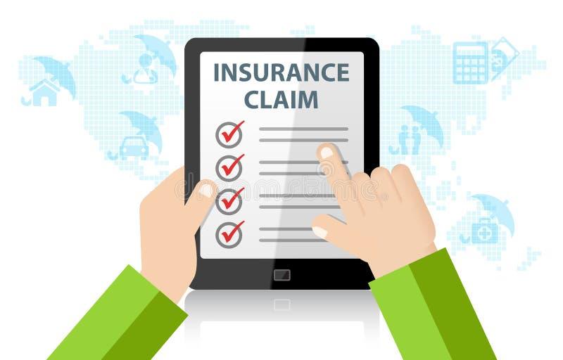 Online-service för försäkringreklamation Liv skada, läkarundersökning, hem, bilförsäkring