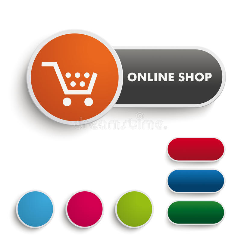 Online shop button black orange piad stock image image 36045091 - Internet shop design ...