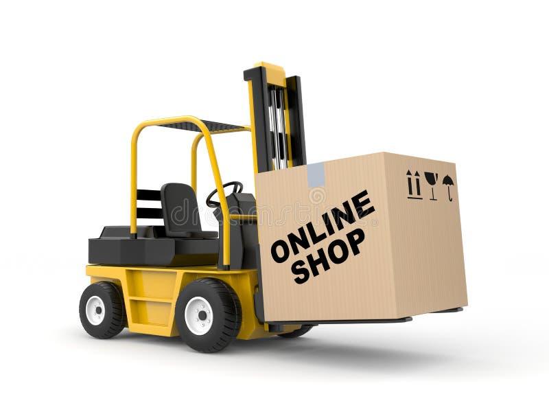 Online shop. Delivery metaphor vector illustration