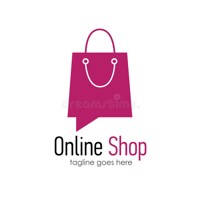 Online shop logo design template stock vector for Design on line outlet