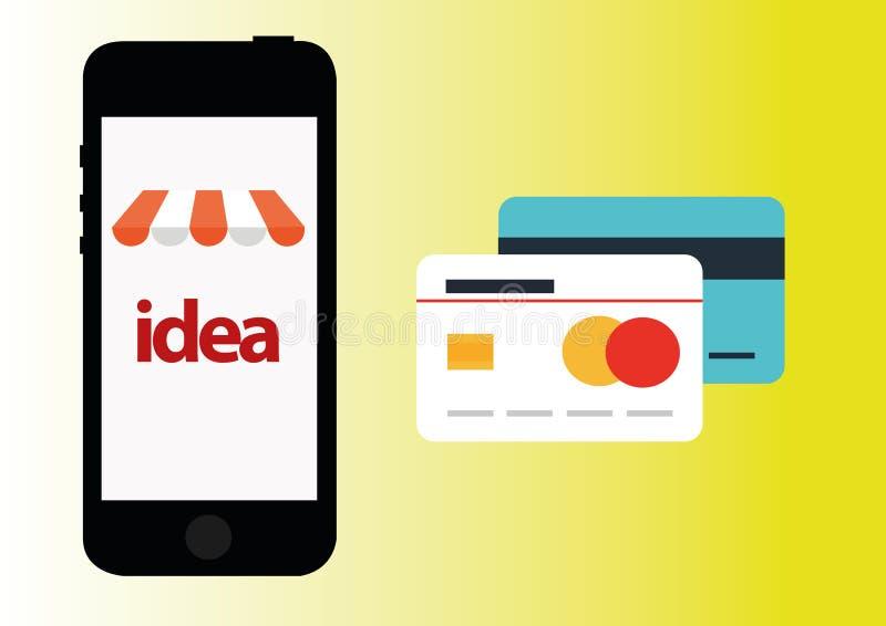 Online shoping wektorowa ikona ilustracji
