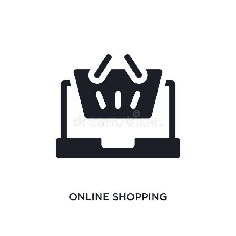 online-shoppa isolerad symbol enkel beståndsdelillustration från betalningbegreppssymboler online-shoppa redigerbart logoteckensy vektor illustrationer