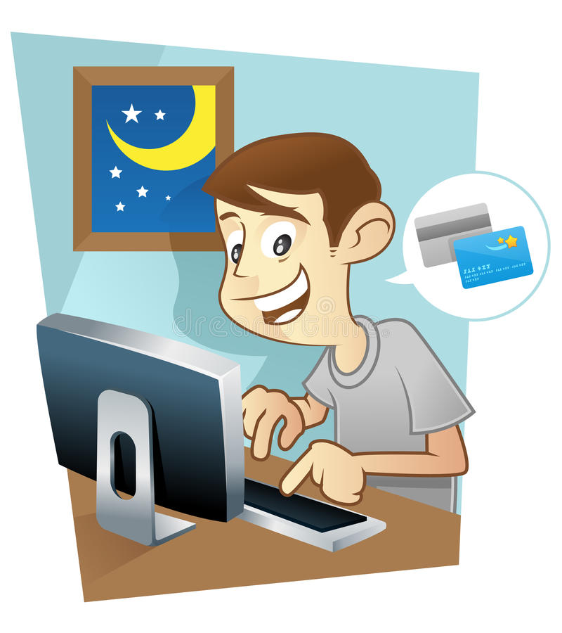 Download Online shopping stock illustration. Image of browsing - 16283249
