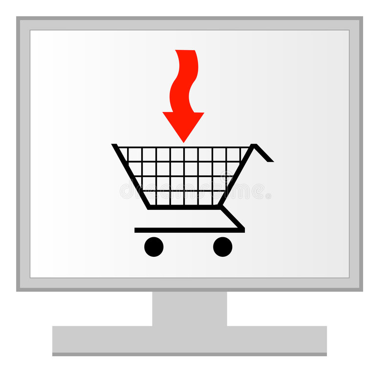 online-shopping stock illustrationer