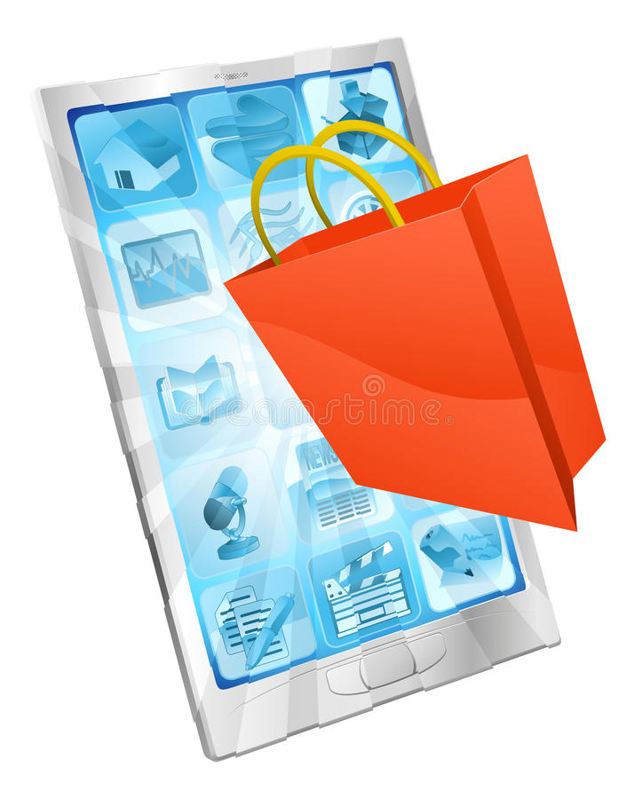 Download Online Shopping App Concept Stock Vector - Illustration of cell, internet: 23310037