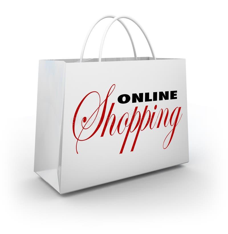 Online Shopping Bag E-Commerce Web Store Stock Photography - Image ...