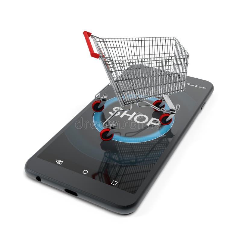 Online shopping concept 3D rendering vector illustration