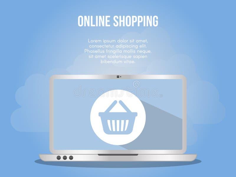 Online shopping concept illustration vector design template royalty free illustration