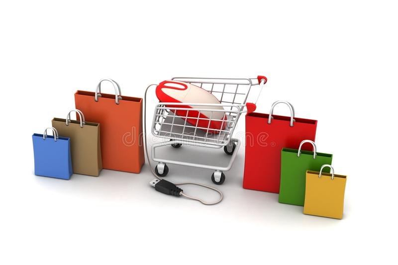 Online shopping concept royalty free illustration