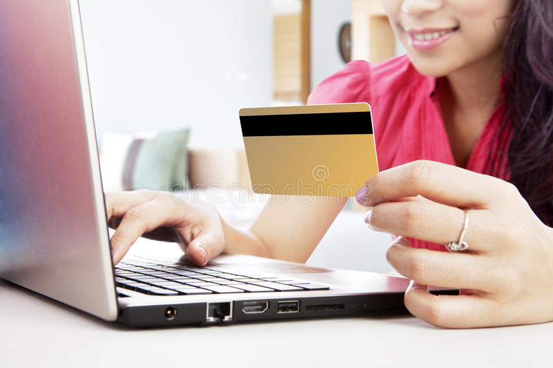 Download Online Shopping With Credit Card Stock Image - Image: 26813721