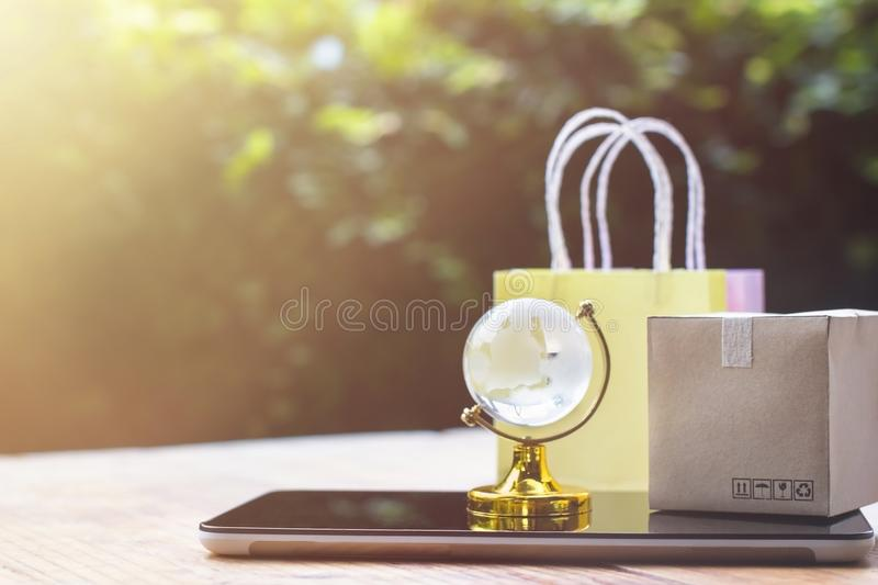 Online shopping, E-commerce,fast trading concept : Colorful shop stock image