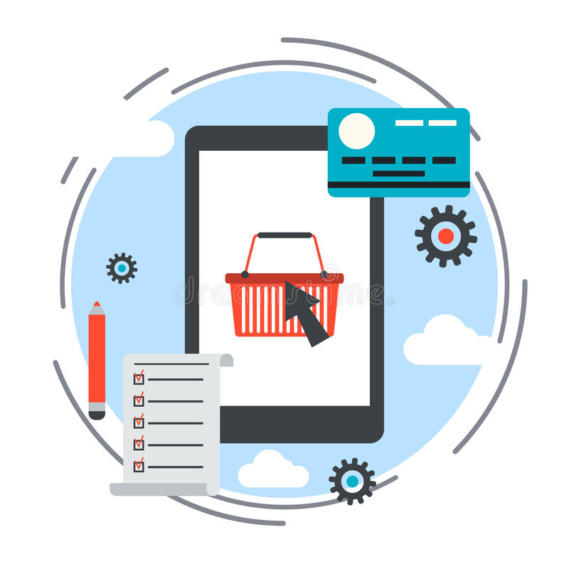 Online shopping e commerce vector concept stock vector for Design scandinavo shop online