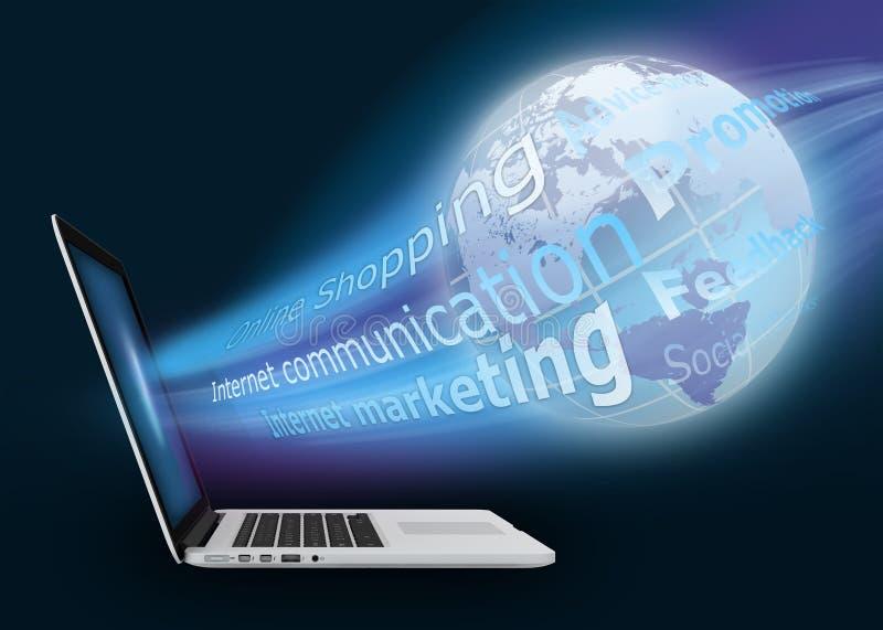 Online shopping on the Internet. Internet marketing royalty free illustration