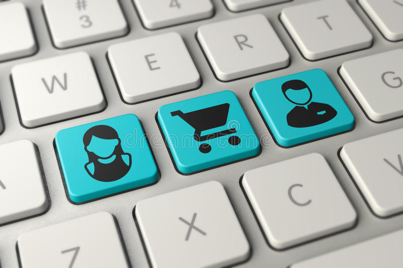 Online shopping Keyboard royalty free stock photography
