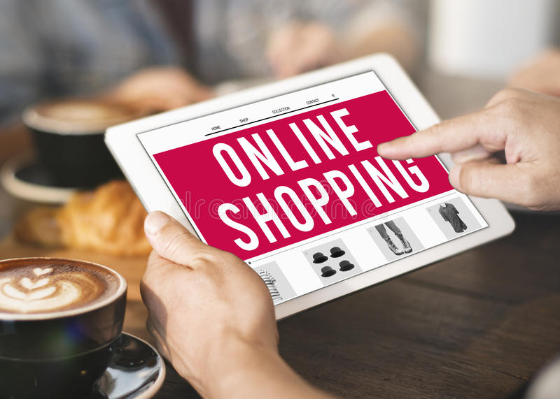 Online Shopping Retail Buying Concept royalty free stock photography