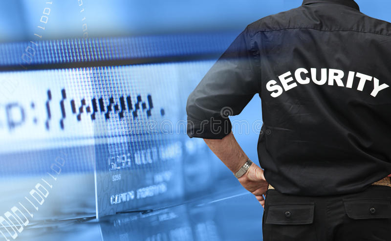 Online shopping security concept royalty free stock photo