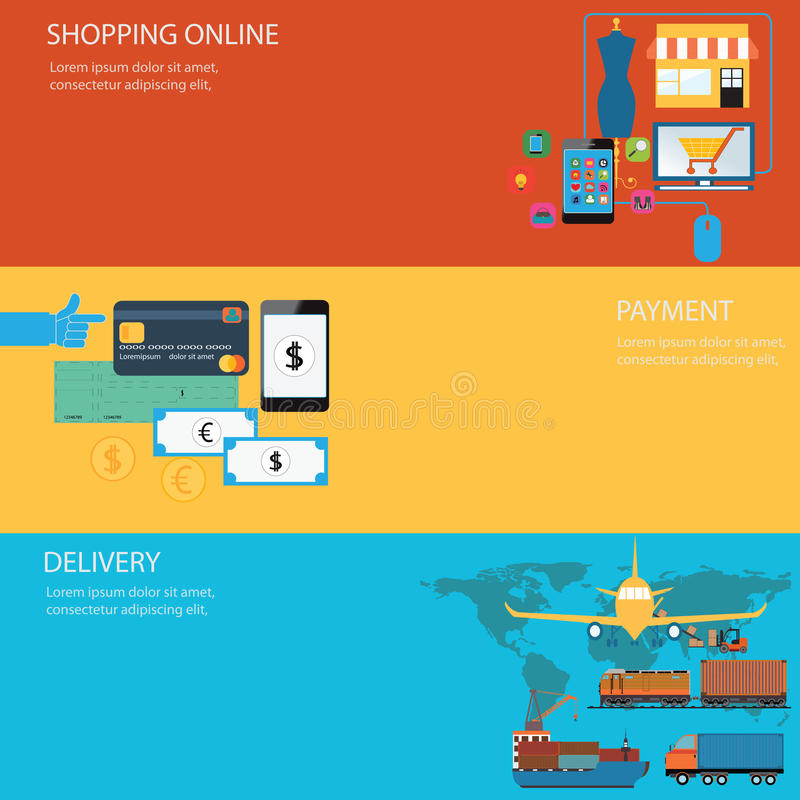 Online shopping. royalty free stock photography