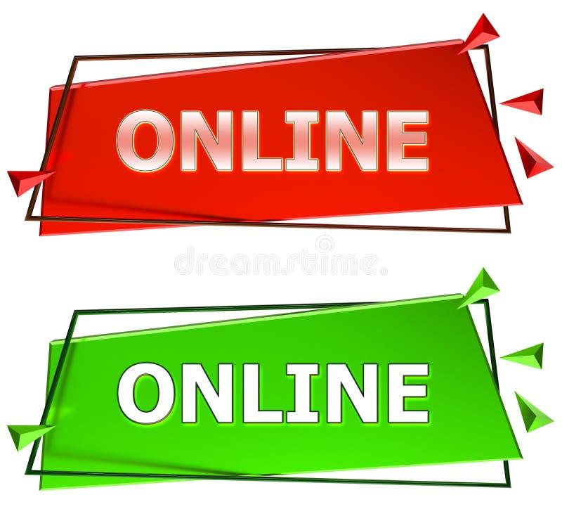 Online sign stock illustration