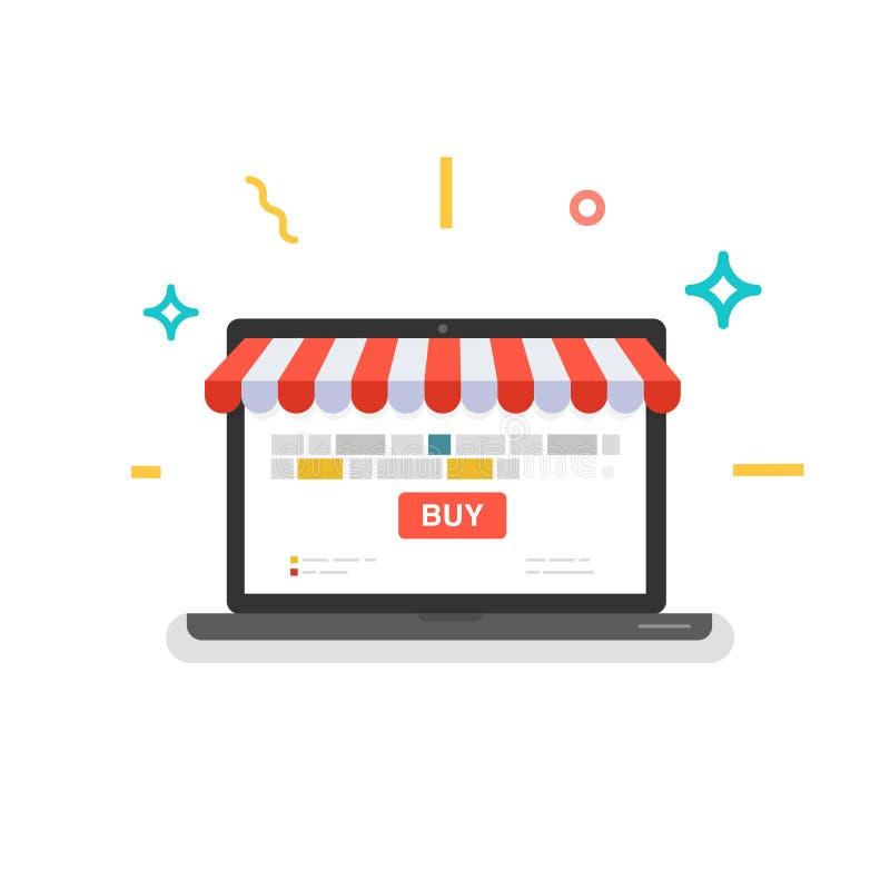 Online sklep Sieć sklep ilustracji