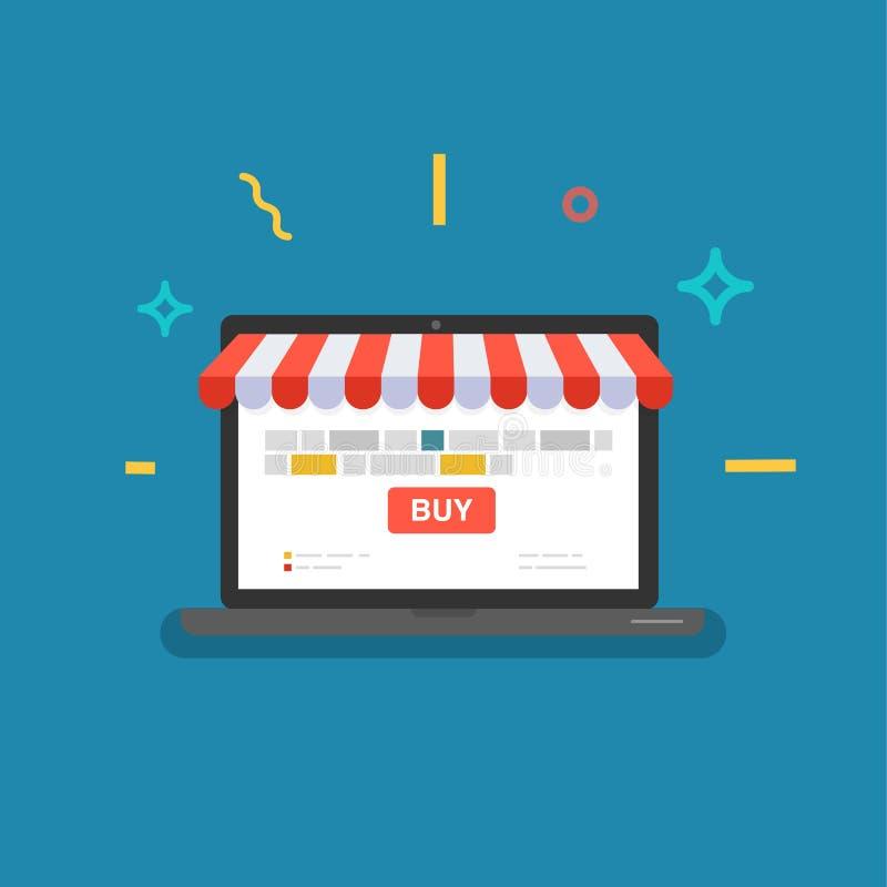 Online sklep Sieć sklep royalty ilustracja
