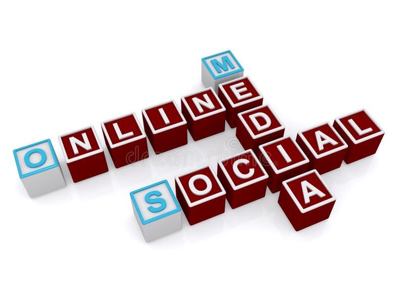 Online-socialt massmedia royaltyfri illustrationer