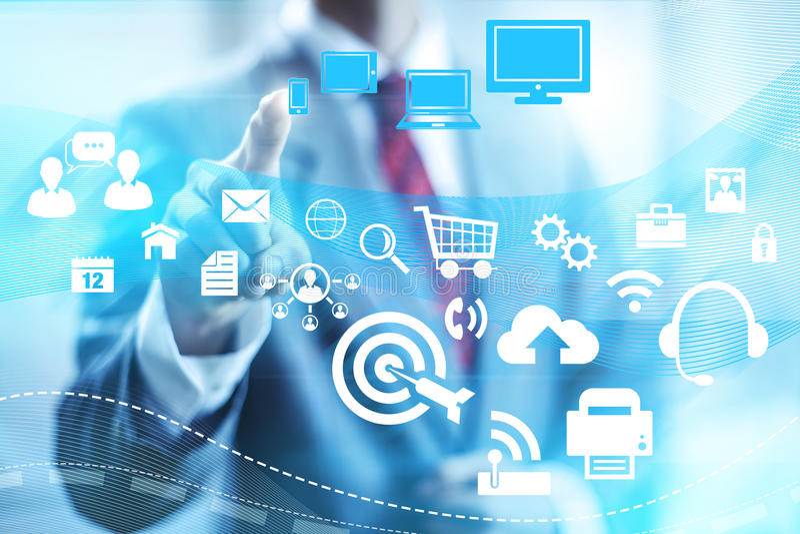 Online solutions stock illustration