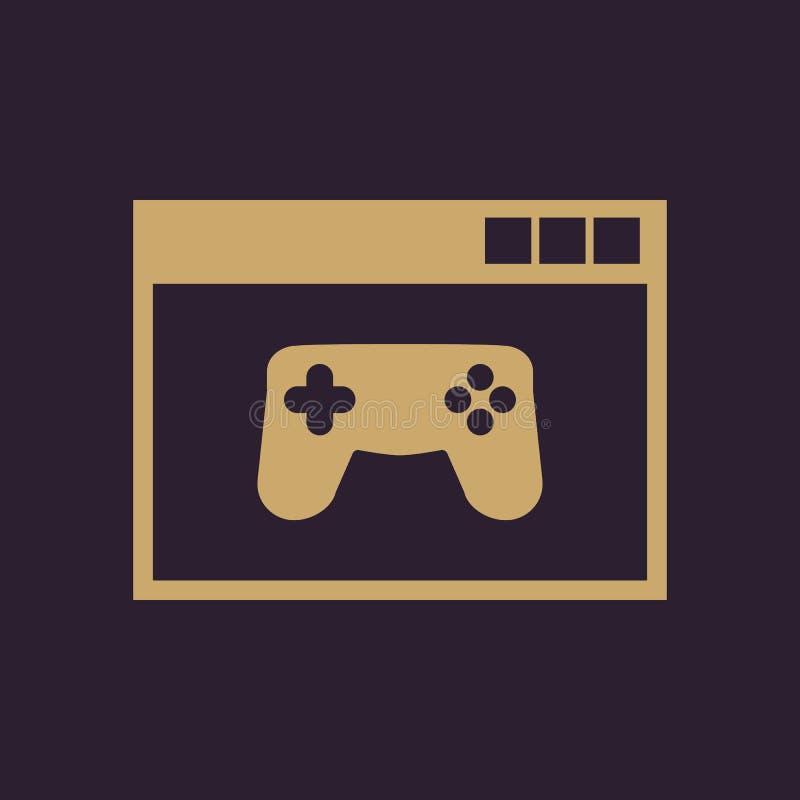 Online-Spiel-Ikone ENV 10 Spiel, Spielsymbol web graphik jpg ai app zeichen nachricht flach bild zeichen ENV stock abbildung