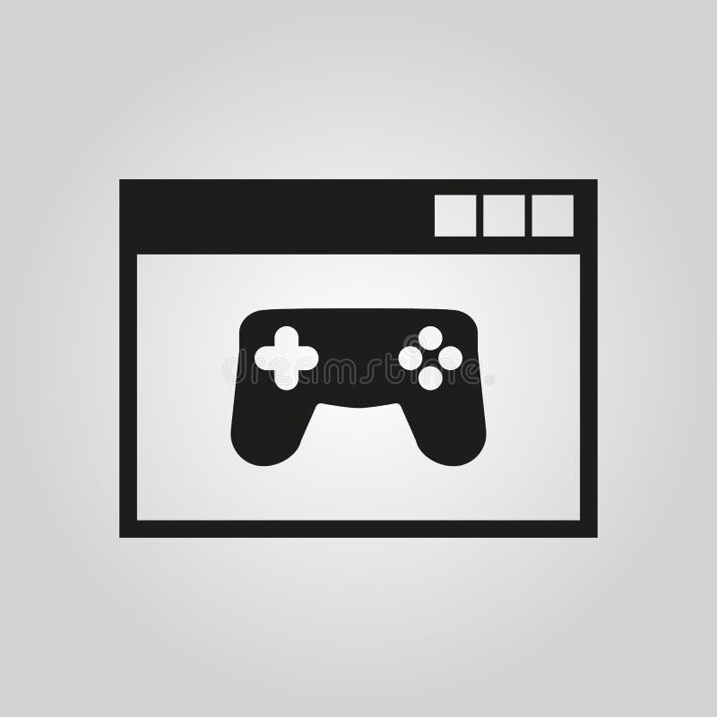 Online-Spiele-Ikone ENV 10 Spielsymbol web graphik jpg ai app zeichen nachricht flach bild zeichen ENV Kunst stock abbildung