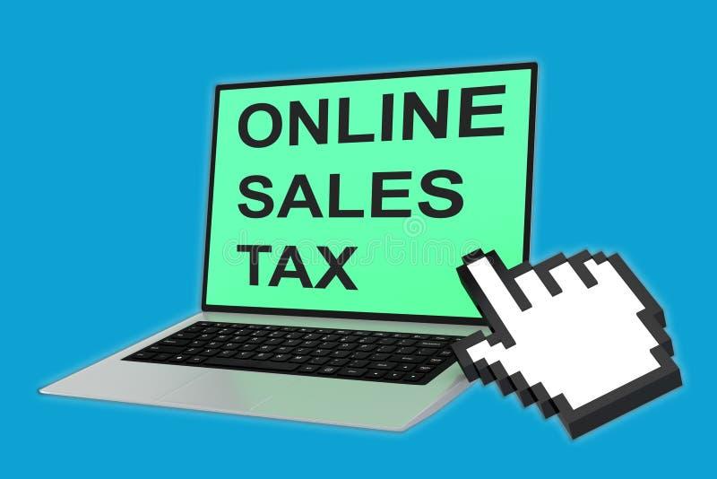 Online sprzedaż podatku pojęcie ilustracja wektor