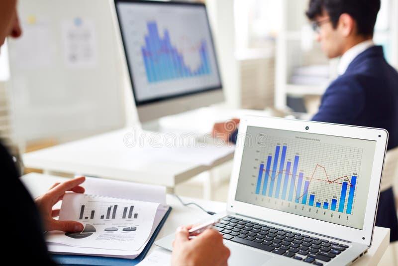 Online statystyki obraz stock